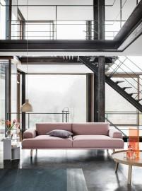 Ghế sofa băng màu hồng cho chung cư cao cấp