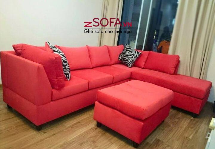 Sofa góc màu đỏ zSofa