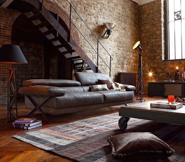 Ghế sofa phòng khách phong cách retro
