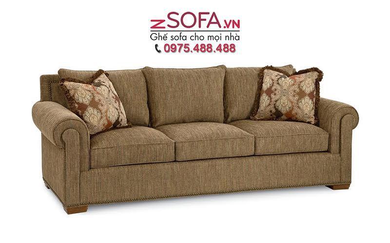 Sofa băng tân cổ điển cho phòng khách.