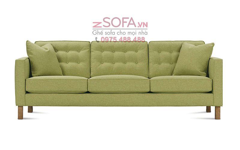 ghe sofa mau xanh la cho phong khach