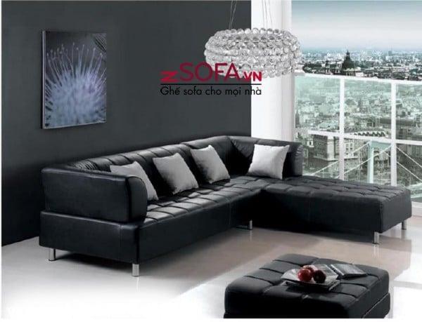 Ghế sofa góc màu đen cao cấp của zSofa