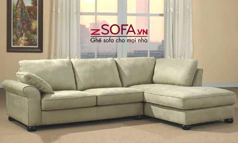 Ghế sofa góc chất lượng bằng vải nỉ của zSofa