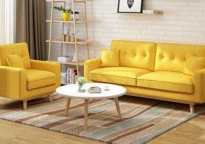 ghế sofa màu vàng
