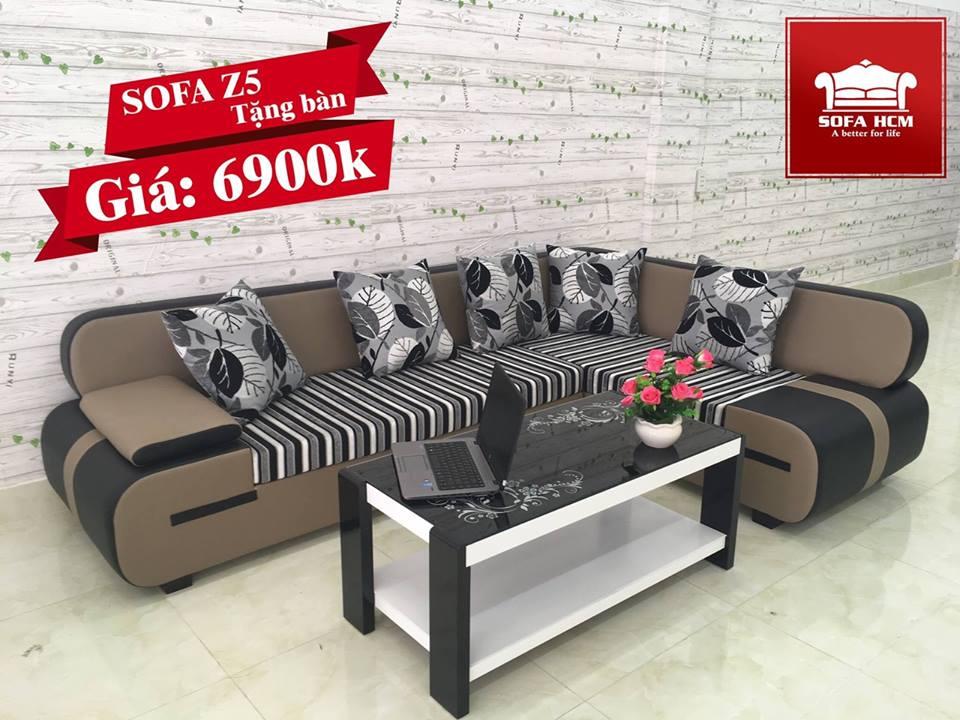 Sofa giá rẻ z5 màu nâu
