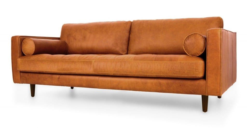 Sofa băng màu cam cao cấp ZB-2901