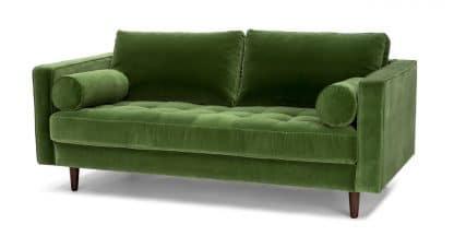 Ghế sofa băng giật nút xanh lá cây ZB3006