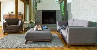 Sofa băng màu xám khung gỗ Sồi Mỹ ZB3001