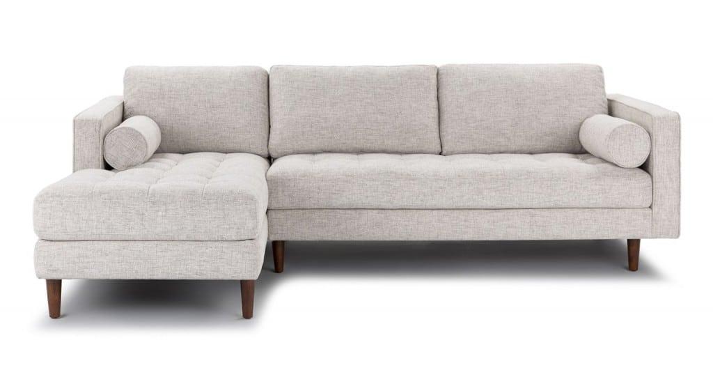 Sofa góc chữ L màu xám trắng ZL3002