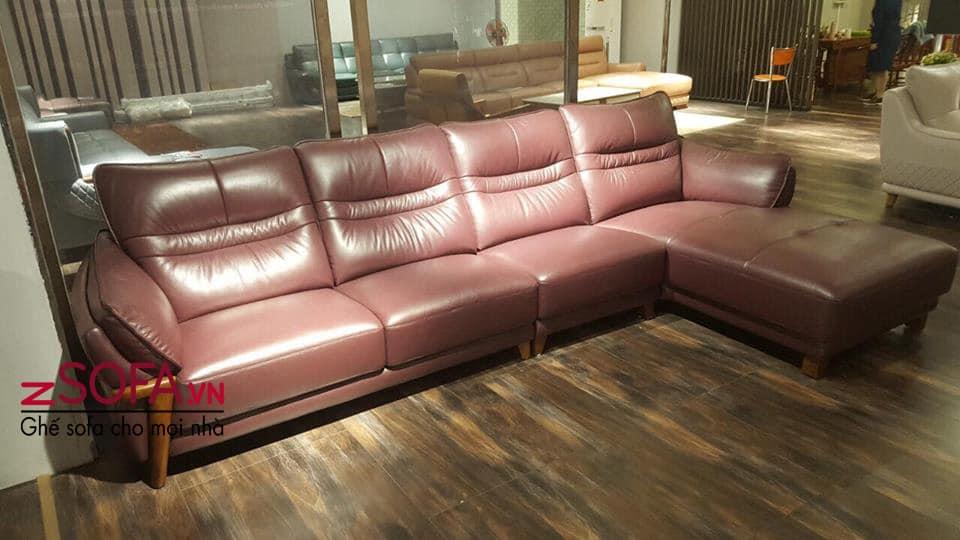 sofa da thật zda002
