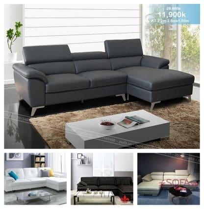 Ghế sofa da góc chữ L Z3009
