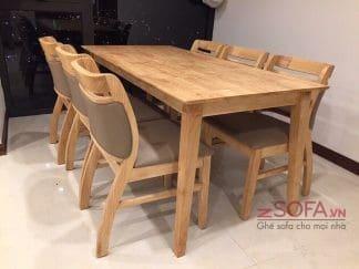 Bàn ghế ăn Asley 6 ghế