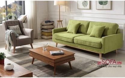 ghế sofa màu xanh