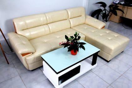 Sofa góc da- Hình ảnh bàn giao cho khách hàng