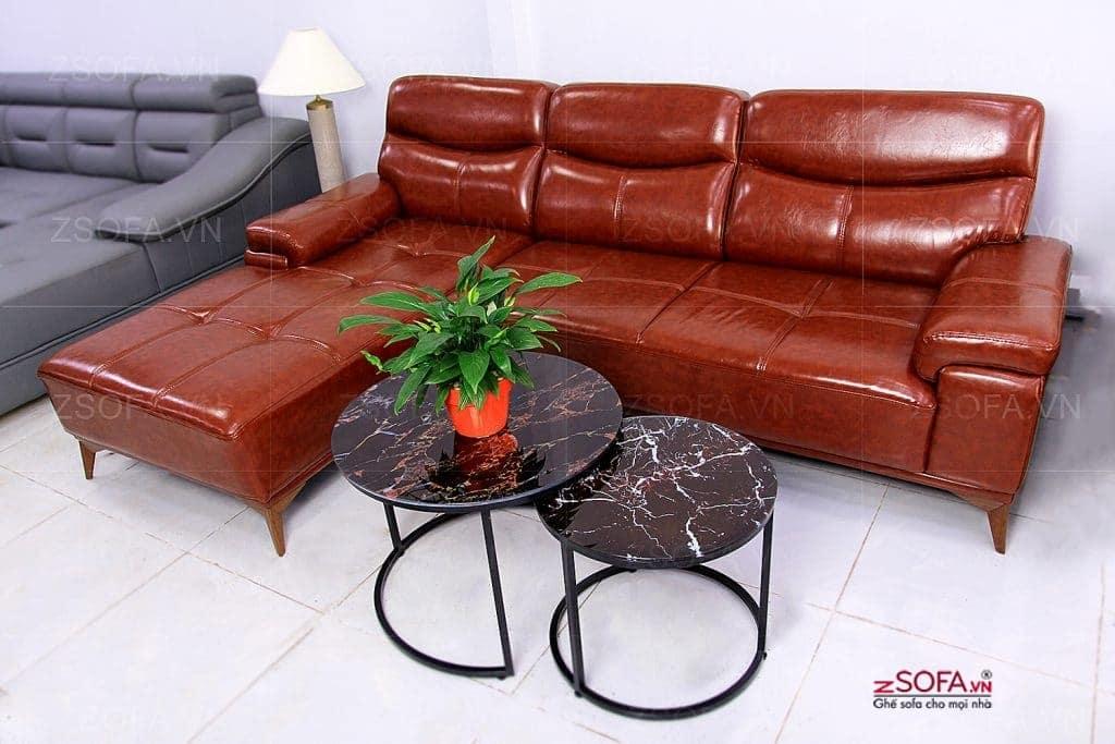 Sofa da trưng bày giảm sốc