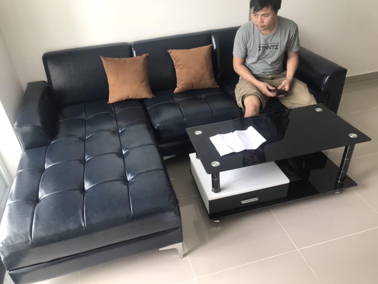Sofa cao cấp mẫu cửa hàng - Hình bàn giao cho khách hàng