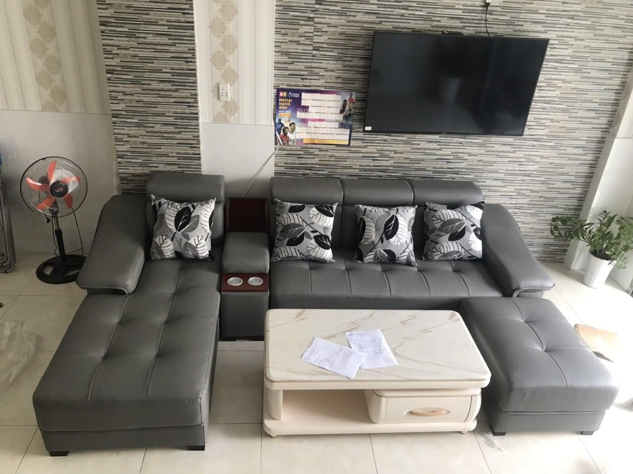 Sofa hiện đại sang trọng tại Long Xuyên - Hình ảnh bàn giao cho khách hàng