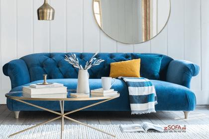 Có nên lựa chọn ghế sofa bọc nhung trong phòng khách?