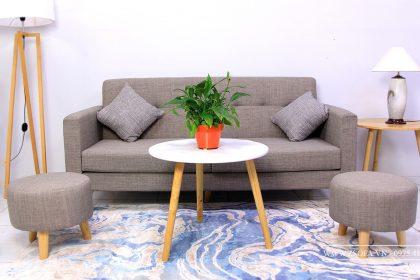 Dòng sofa da công nghiệp sẽ phù hợp hơn với điều kiện kinh tế của nhiều hộ gia đình