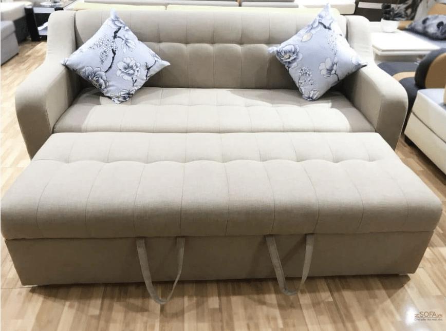 Sofa đa năng có thể dễ dàng biến thành một chiếc giường tiện nghi và thoải mái