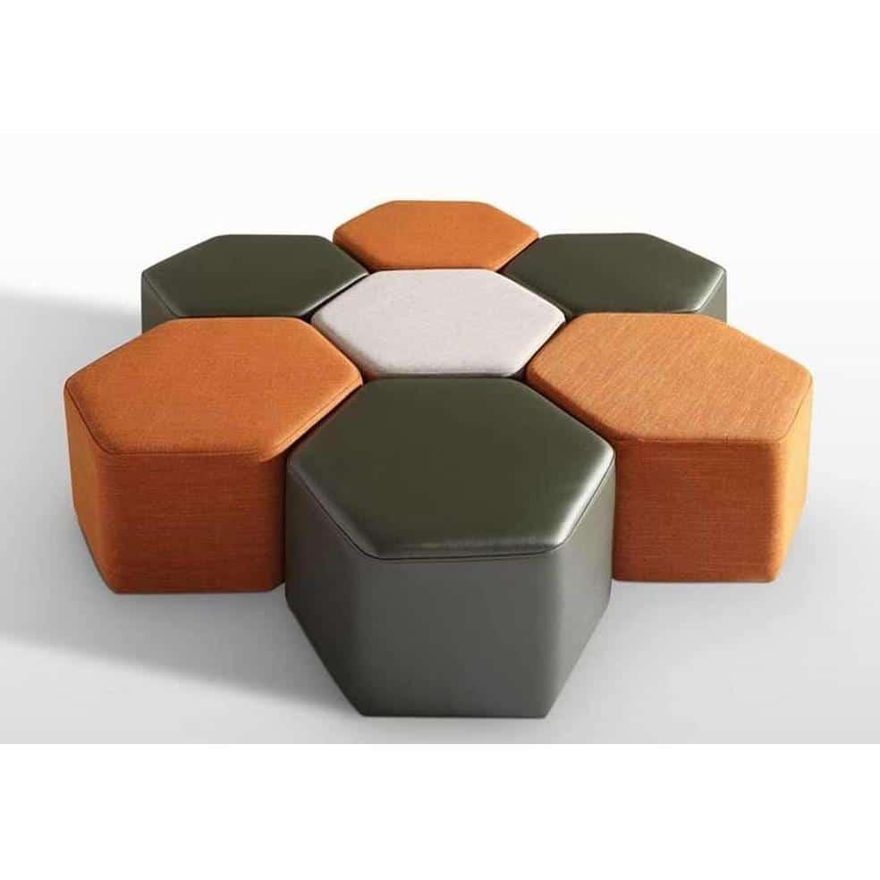 Đôn sofa simili hình lục giác