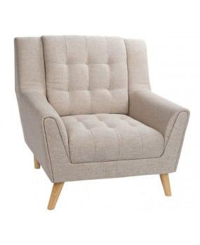 ghế sofa đơn armchair chân chéo