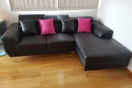 Sofa simili chữ L chất lượng cao dành cho phòng khách
