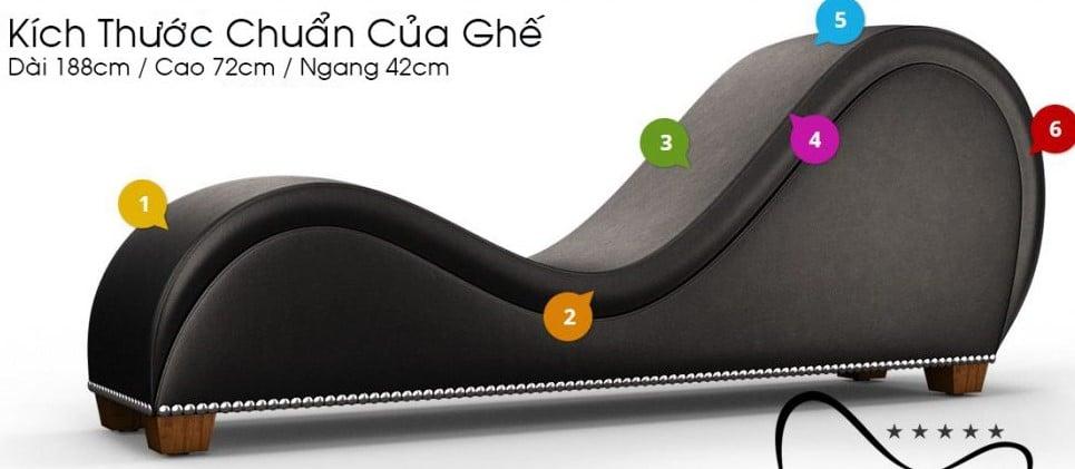 Kích thước ghế sofa tình yêu