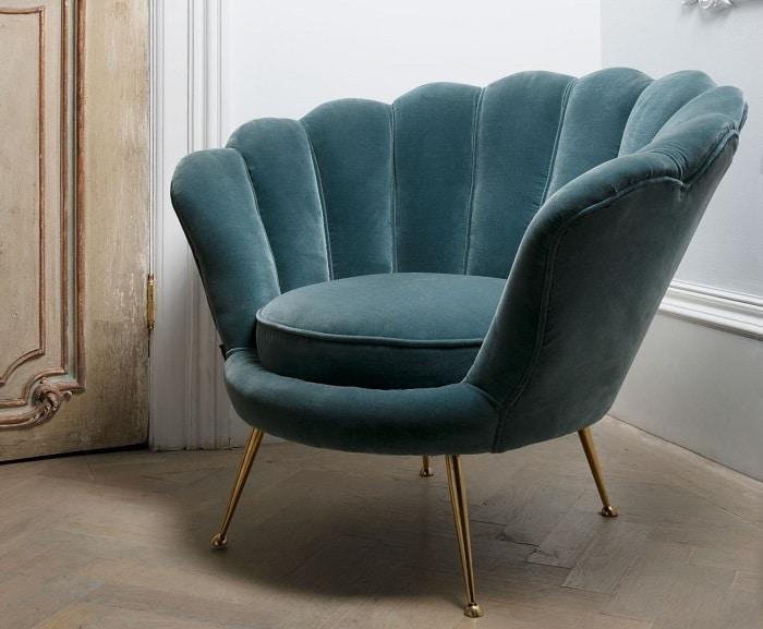 sofa đơn armchair công xòe đuôi