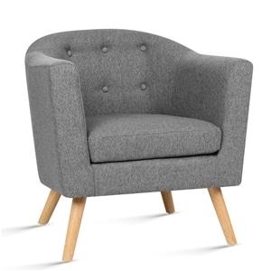 sofa đơn armchair màu xám lông chuột