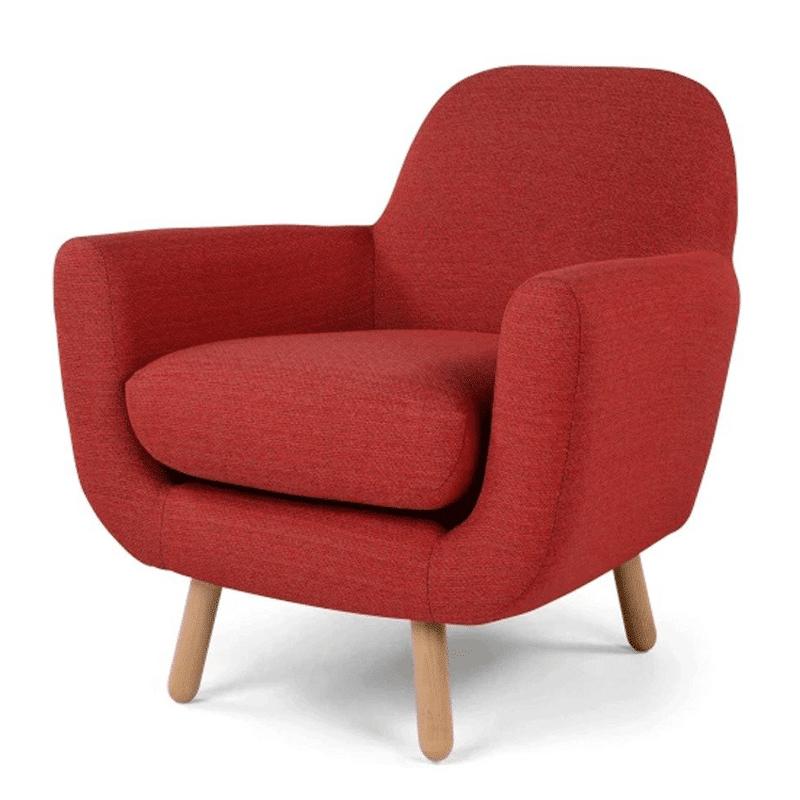 sofa đơn màu đỏ