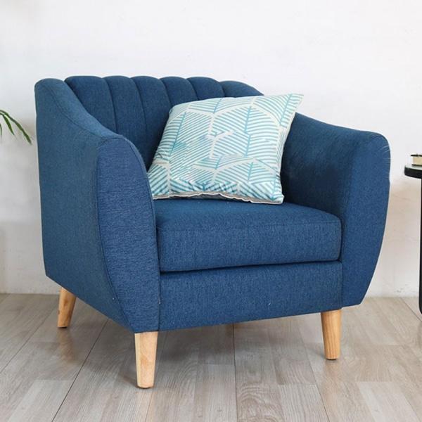 sofa đơn xanh dương