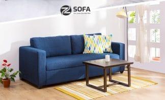 Sofa băng màu xanh
