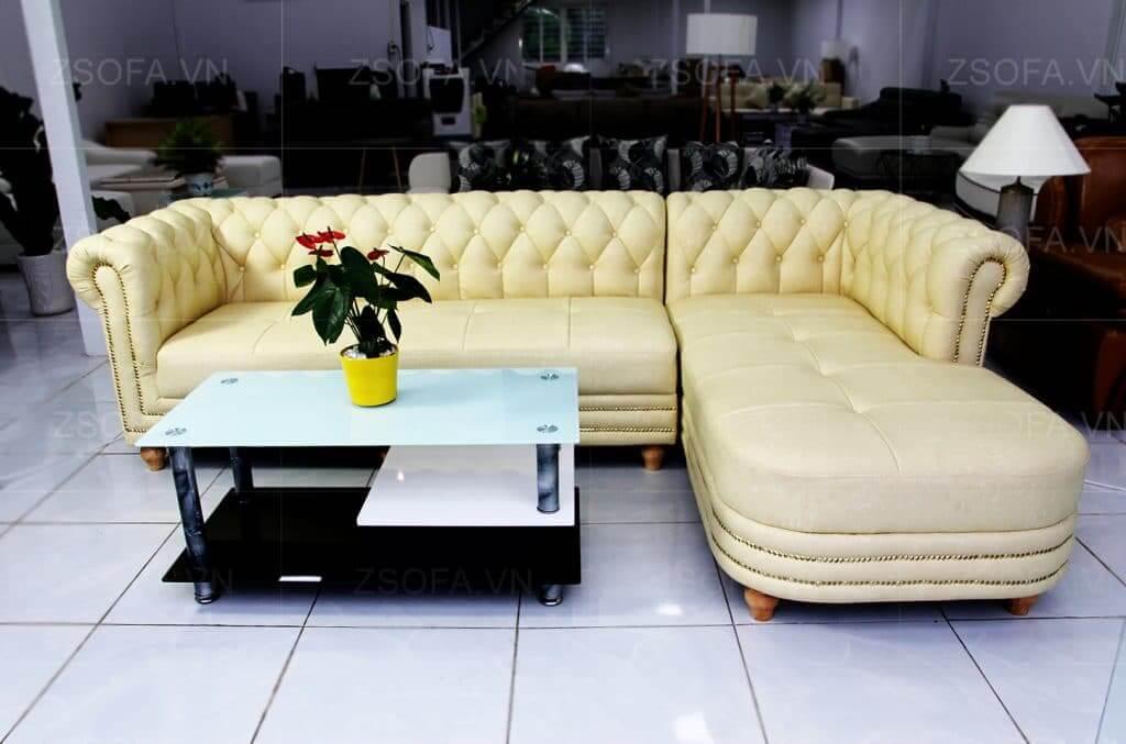 Sofa góc tân cổ điển cho phòng khách thêm sang trọng