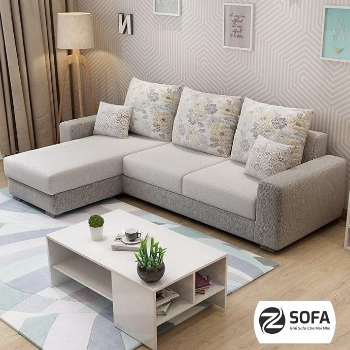 Sofa góc vải nỉ - mang đến sự ấm áp cho phòng khách