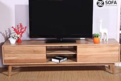 Kệ tivi bằng gỗ đẹp cho căn phòng khách thêm sang trọng