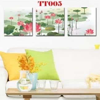 Tranh canvas bộ 3 hoa lan TT005