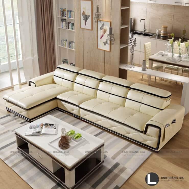 Ghế sofa màu kem - tạo sự tươi mới cho phòng khách