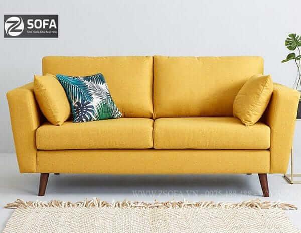 Ghế sofa màu vàng sang trọng cho phòng khách
