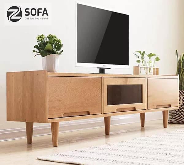 Chọn kệ tivi bằng gỗ đẹp nhất cho gia đình