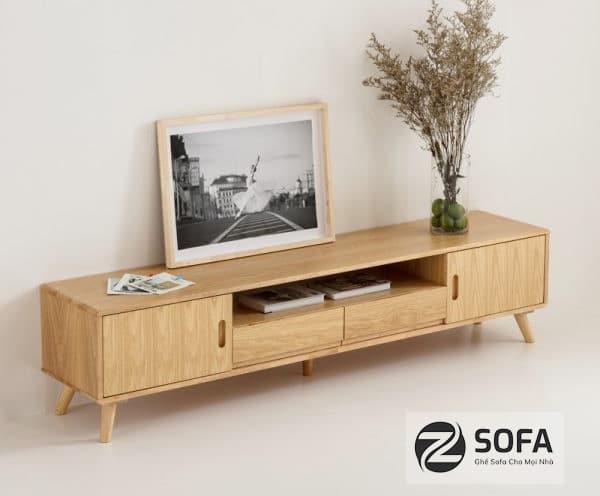 Kệ tivi bằng gỗ tự nhiên dành cho phòng khách