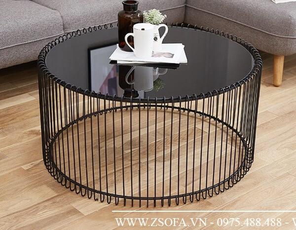 Bàn sofa kính đen - tăng sự sang trọng cho phòng khách