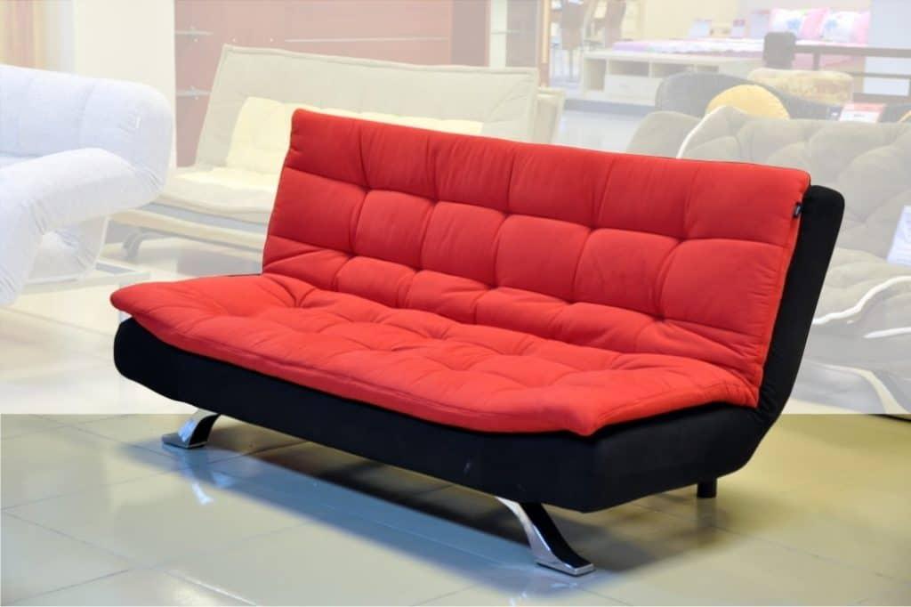 Ghế sofa giường nỉ mang đến sự ấm áp cho phòng khách