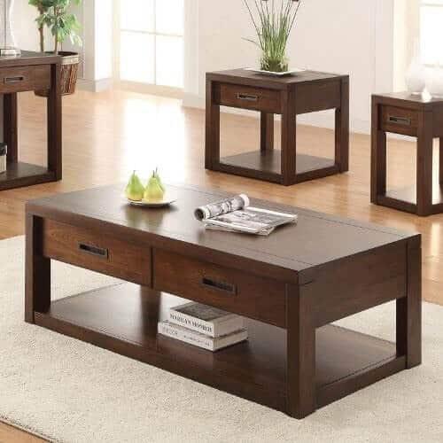 Chọn bàn trà gỗ nguyên khối cho phòng khách