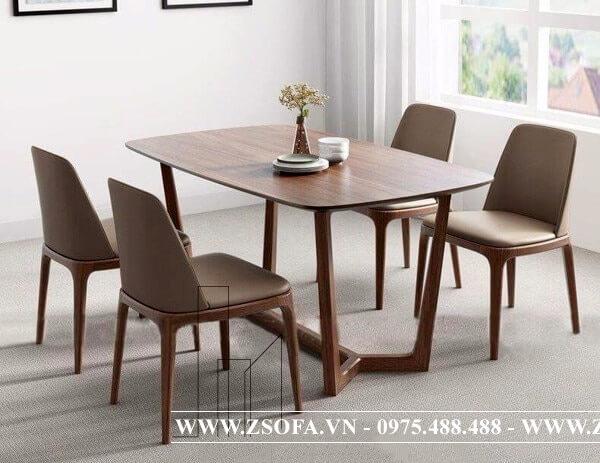 Chọn bàn gỗ ăn uống cho phòng ăn