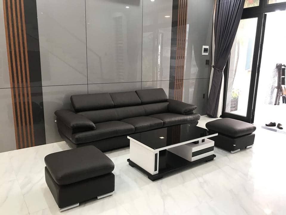 Mua bộ ghế nệm bọc simili cho không gian phòng khách