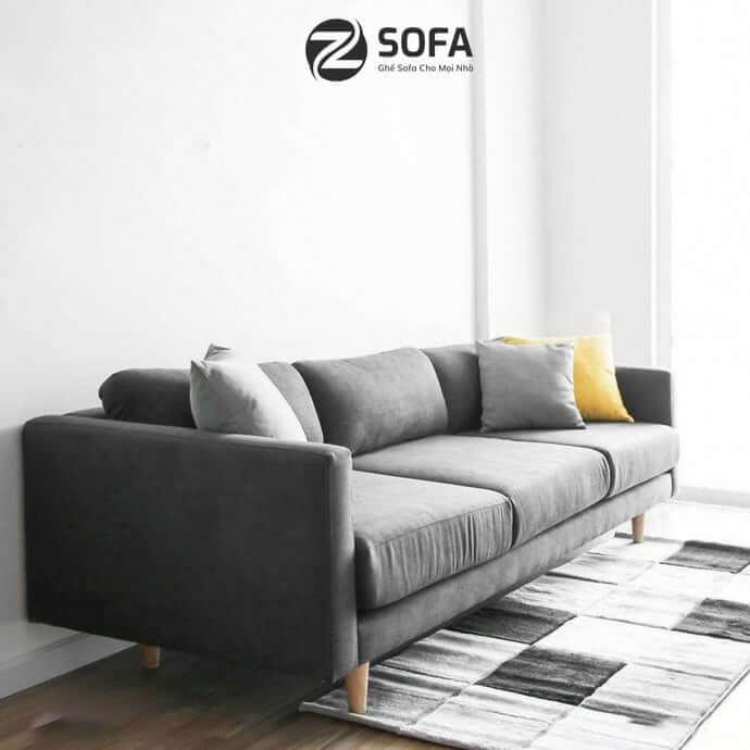 Chọn bàn ghế sofa nỉ cafe tốt nhất cho phòng khách
