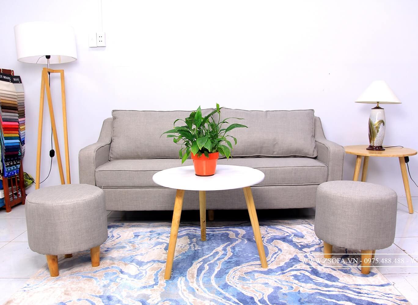 Bàn sofa tròn mặt đá từ doanh nghiệp nội thất uy tín