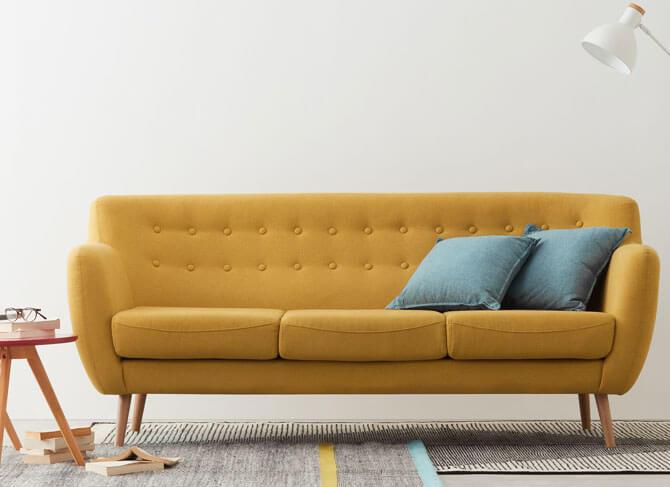 Sofa băng lót nệm dày ấm áp cho gia đình
