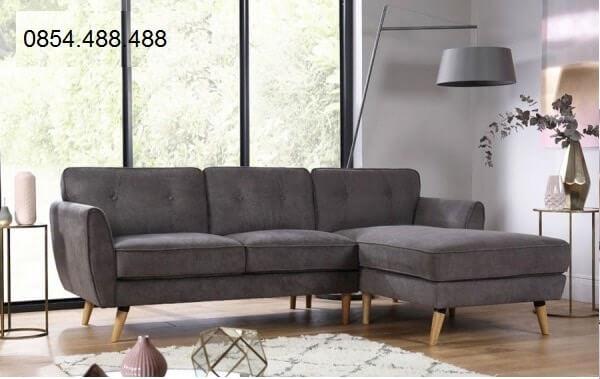 Chọn bộ ghế sofa góc nhỏ gọn phòng khách nhỏ